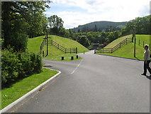 NN9357 : Lane heading to the power station at Loch Faskally by James Denham