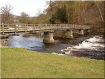 SE0754 : Bolton Abbey: bridge over the River Wharfe by Chris Downer