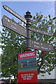 NU1241 : Signpost - Market Place, Holy Island by Stephen McKay