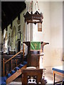 TM2368 : The pulpit of St. Mary's Church, Worlingworth by Adrian Cable