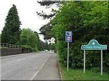 ST1494 : Ystrad Mynach sign by Alex McGregor
