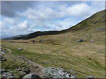 NN6240 : The bealach between Beinn Ghlas and Meall Corranaich by Richard Law