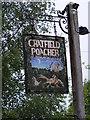 TM3175 : Cratfield Poacher Public House sign by Adrian Cable