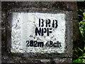 SM9430 : Stencilled sign on old railway bridge by ceridwen