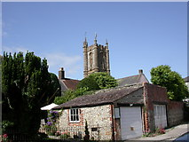 ST6601 : Cerne Abbas, church tower by Mike Faherty