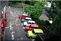TQ3266 : Croydon:  Minis of many colours by Dr Neil Clifton
