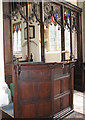 TF8807 : St Andrew's church in Holme Hale - reading desk by Evelyn Simak