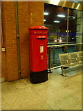 TQ3179 : London: postbox № SE1 38, Waterloo Station by Chris Downer