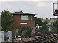 TQ3174 : Herne Hill signalbox by Stephen Craven
