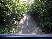 TA1181 : Ravine Road from Church Bridge - south east by John S Turner