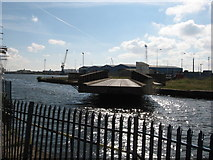 ST1974 : Swing bridge, Port of Cardiff by Gareth James