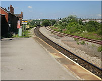 ST1166 : The view west from Barry Island railway station by Jaggery