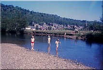 NN6207 : River Teith at Callander May 1961 by Nigel Mykura