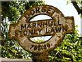 ST7818 : Marnhull: detail of Stoney Lawn finger-post by Chris Downer