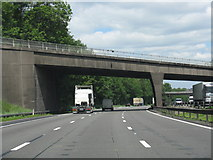 SJ8441 : M6 motorway - Hanchurch overbridge by J Whatley