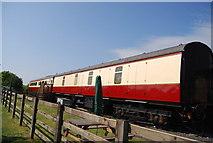 NZ9208 : Train Carriage, Hawsker Station by N Chadwick