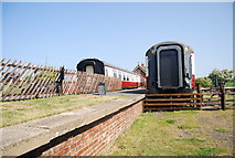 NZ9208 : Train carriages and platform, Hawsker Station by N Chadwick