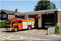 SU3521 : Fire Station, Romsey, Hampshire by Peter Trimming