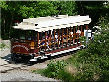 SK3455 : Crich Tram at Terminus by Neil Packwood