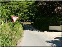 SS4939 : Nethercott Road approaching the junction with the A361 by Roger A Smith