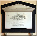 TG2504 : St Mary, Arminghall, Norfolk - Wall monument by John Salmon