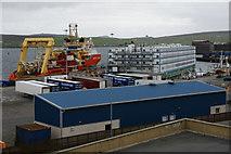 HU4642 : Flotel in Morrison Dock, Lerwick by Mike Pennington