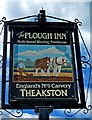 SO7374 : The Plough Inn (pub sign), Cleobury Road by P L Chadwick
