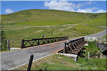SN9071 : Pont ar Elan - new metal bridge over the Elan by Nicholas Mutton