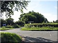 SO8870 : Clattercut Lane crossroads from Elmbridge Lane by Peter Whatley