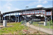 TL4197 : March Railway Footbridge by Ashley Dace