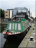 NT2472 : Canal boat, Union Canal at Viewforth by kim traynor