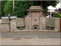 NT8937 : Memorial drinking fountain, Branxton by Andrew Curtis