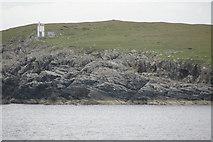 HU5489 : Gamla and Whitehill Lighthouse, Vatsetter by Mike Pennington