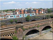 SJ8297 : Metrolink viaduct by Jonathan Wilkins