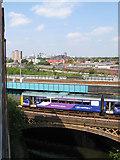 SJ8297 : Cornbrook viaducts by Jonathan Wilkins