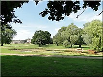 TF7928 : Pond and New Houghton Hall, Norfolk by Adrian S Pye
