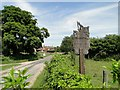 TF7132 : The Village Sign at Shernborne, Norfolk by Adrian S Pye