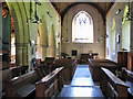 TF7132 : The church of SS Peter and Paul in Shernborne - view west by Evelyn Simak