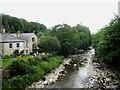 NY7146 : The River South Tyne near Alston by Philip Barker