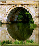SE7365 : Bridge Arch over the River Derwent at Kirkham Abbey by Andy Beecroft