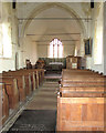 TF8529 : All Saints' church in Tattersett - view east by Evelyn Simak