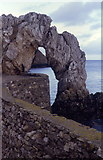SH4094 : Natural Arch, Porth Wen by Chris Andrews