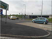 SJ7993 : A56 Road Junction - Near J7 M60 by Anthony Parkes