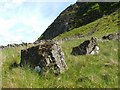 NS4777 : Boulders beside Duncolm by Lairich Rig