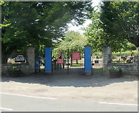 SO6302 : Entrance to Lydney Cemetery by Jaggery