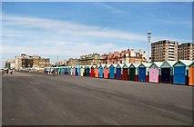 TQ2804 : Beach huts on Kings Esplanade by Paul Gillett