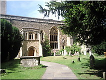 SP5106 : Churchyard of St Peter in the East, Oxford by Marathon