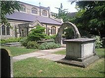 TQ2075 : Churchyard of St Mary the Virgin, Mortlake by Marathon