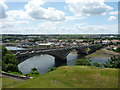 NT9952 : Royal Tweed Bridge, Berwick Upon Tweed : View looking south from town walls by Richard West