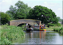 SK0220 : Tuft Bridge near Bishton, Staffordshire by Roger  Kidd